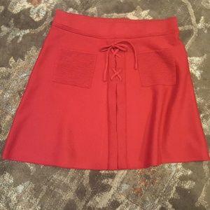 Candie's dark red sweater skirt